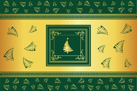 goldy: abstract Christmas background with some tree  Illustration