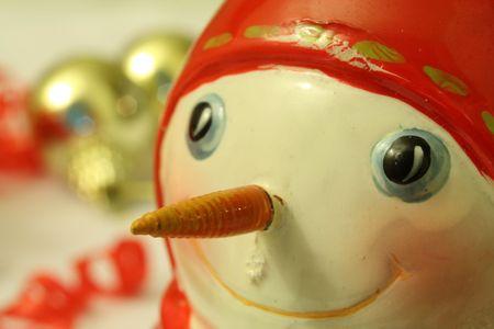 smiling snowman santa