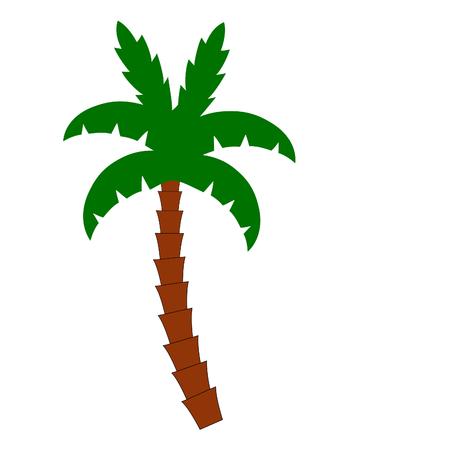 single palm three on white Illustration