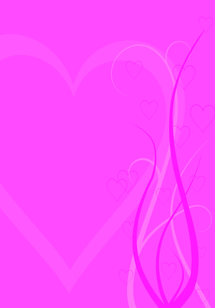 abstract vector valentine background formed by hearts and swirl lines Stock Vector - 2498184