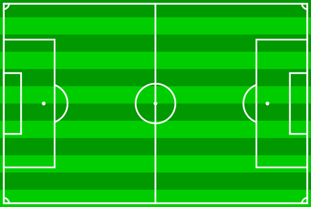 vector illustration of a soccer field with green stripes Stock Vector - 2512829