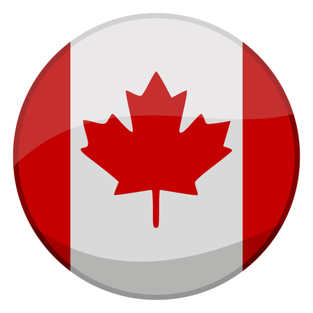 vector illustration of a glossy icon of a canadian flag  Stock Vector - 2529436