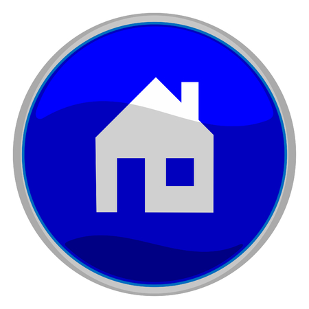 Vector illustration of a glossy icon of a house