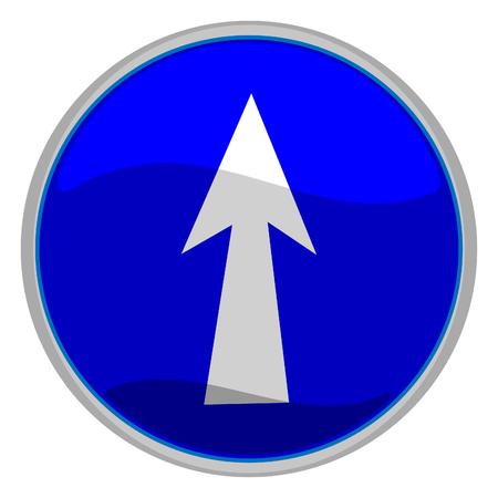 pointing up: Illustrazione vettoriale di un lucido icona di una freccia rivolta verso l'alto Vettoriali