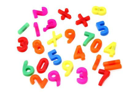 magnet numbers and math symbols photo