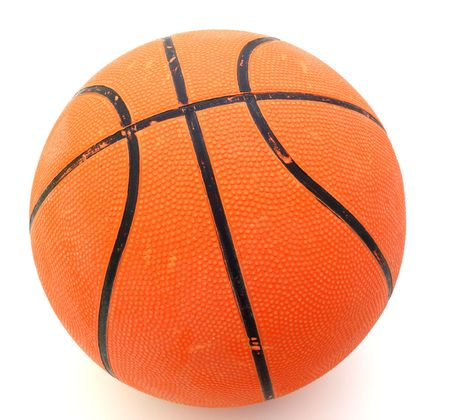 orange basket ball over a white surface Stock Photo - 2761941