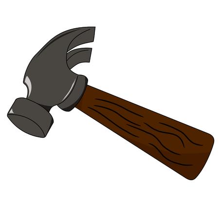 vector illustration d'une bande dessinée comme le marteau sur blanc