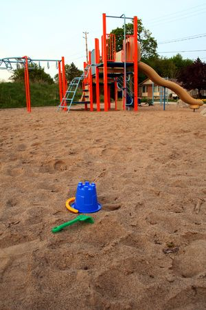 toys on a children playground in a park Stock Photo - 3057412