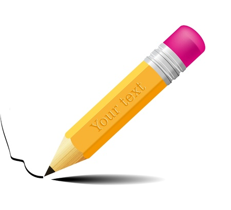 isolated pencil with place for yout text