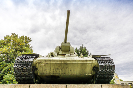 Tank in Berlin Stock Photo