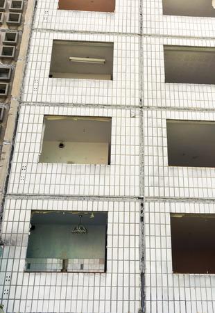 abruption: Building made with precast concrete slabs Stock Photo
