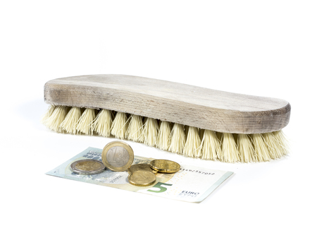 carpet stain: Cleaning brush