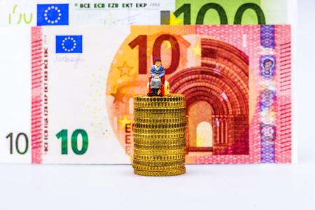 Model figure and european money