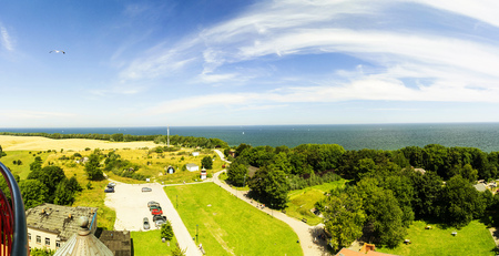 Outlook from lighthouse at cape Arkona , island of Ruegen in Ger