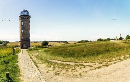 Lighthouse at cape Arkona , island of Ruegen in Germany