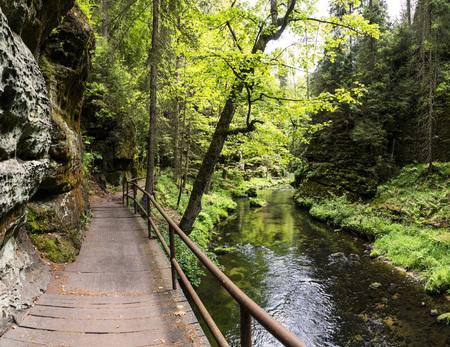 czech switzerland: Elbe Montagne Arenarie in Europa