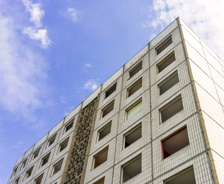 abruption: Building made with precast concrete slabs in Magdeburg, Germany