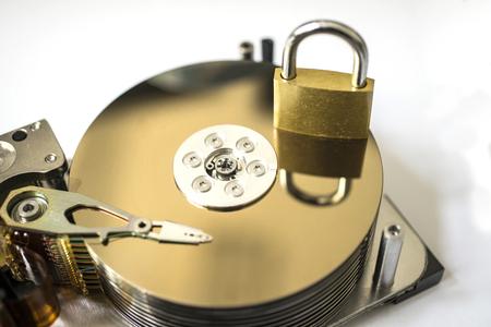 disco duro: Primer plano de un disco duro Foto de archivo