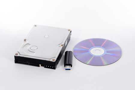 Harddrive, compact disc and USB stick
