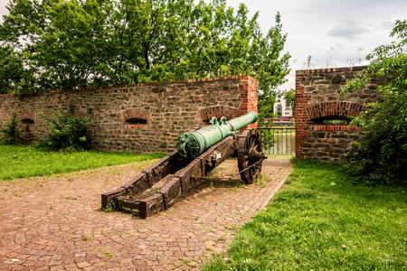 Historic cannon in Magdeburg, Germany