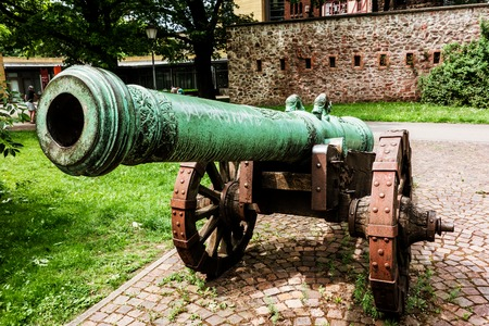 ciclovia: Historic cannon in Magdeburg, Germany