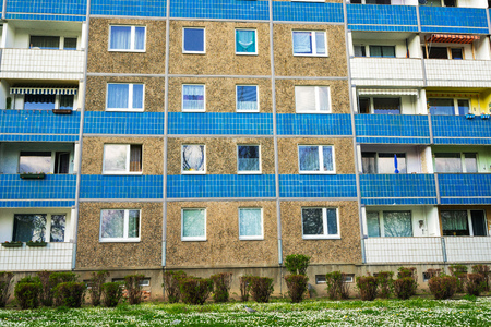 realestate: Building made with precast concrete slabs Stock Photo