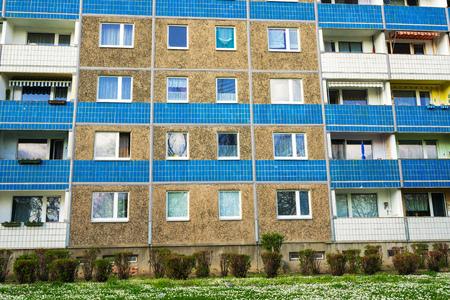 precast: Building made with precast concrete slabs Stock Photo
