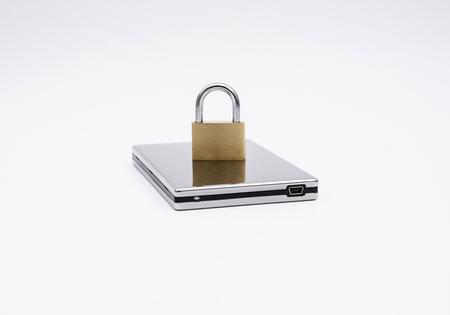 USB harddirve with padlock