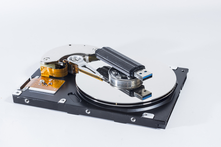 Harddrive and USB stick Stock Photo