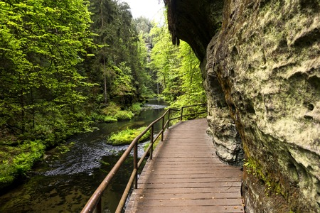 czech switzerland: Elbe Sandstone Mountains in Europe
