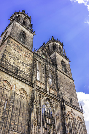 Magdeburg Cathedral. Magdeburg, Lower Saxony, Germany. Stock Photo