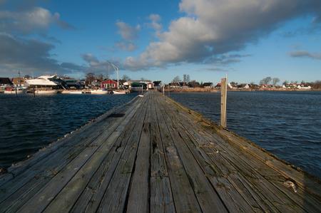 idyllic: Idyllic marina in Sweden in spring time.