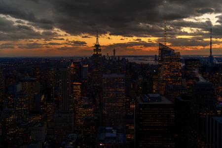 catchy: Manhatten Sunset Stock Photo