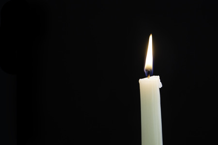 candle wick: candle in the dark
