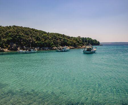 Beautiful landscape of the Croatian beach on the sea