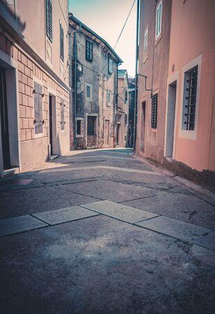 A beautiful little city in Croatia, without people Фото со стока