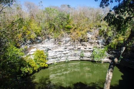 architecture: Sacred Cenote at Chichen Itza