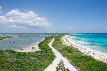 Cozumel sea and lagoon