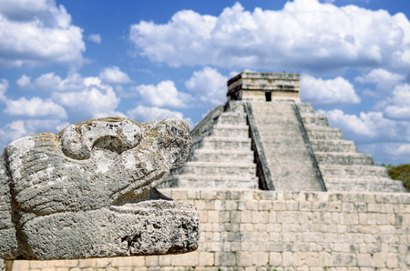 The most remarkable structure in Chichen Itza mayan archaeological site