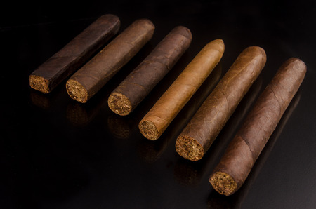 Handcrafted cigar made of tobacco leafs