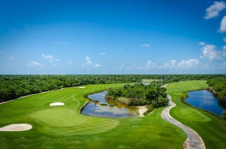 Golf club facilities of a luxury resort in the caribbean 版權商用圖片