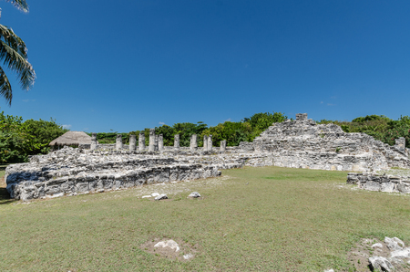 Archaeological site of El Rey near the Mirador in the Hotel Zone of Cancun