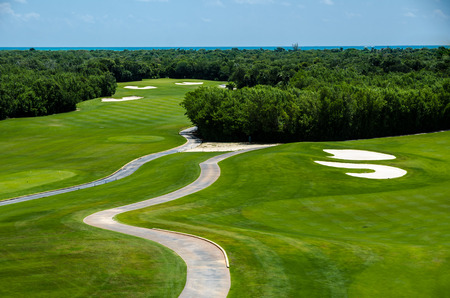Golf club facilities of a luxury resort in the caribbean