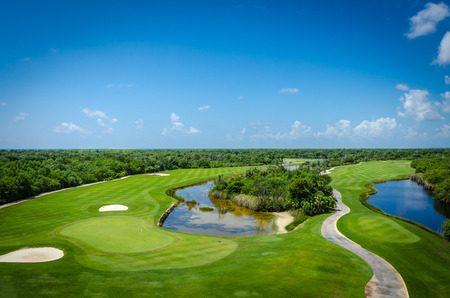 Golf club facilities of a luxury resort in the caribbean Stock Photo
