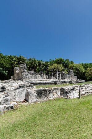 Archaeoligical site of El Rey near the Mirador in the Hotel Zone of Cancun