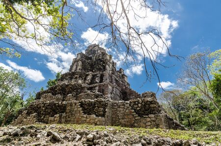 Mayan city of Muyil, located in Quintana Roo, Mexico