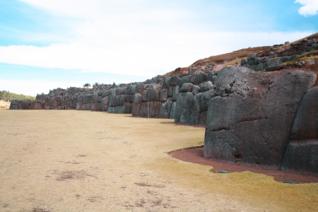 cusco: Ruins of Sacsayhuaman near Cusco, Peru. Stock Photo