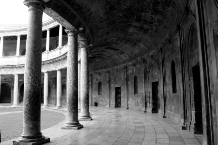 Carlos V palace, Granada, Spain
