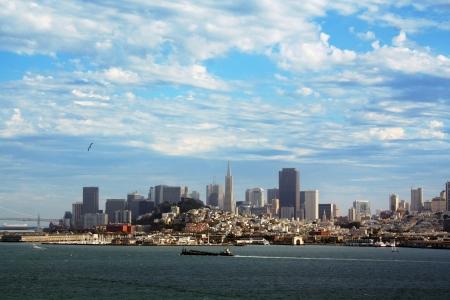major ocean: View of downtown San Francisco from Alcatraz Island , California
