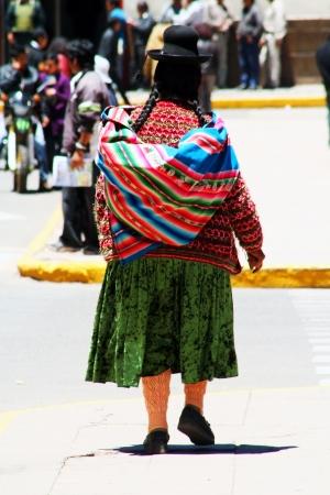 quechua: Quechua Indian woman near Puno, Peru, South America